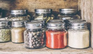 herbs and spices jars
