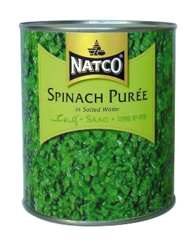 Canned Spinach Puree